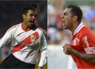 Rolfi-Montenegro-Independiente-River-Ambas-Camisetas-Previa